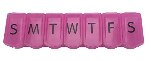 Apex 7-Day Ultra Bubble-Lok Pill Organizer (XL, Translucent Pink)