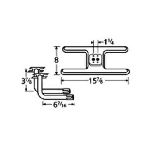 Charmglow Thermos 10502-75812 H Twin Centered 1.25in. Off...
