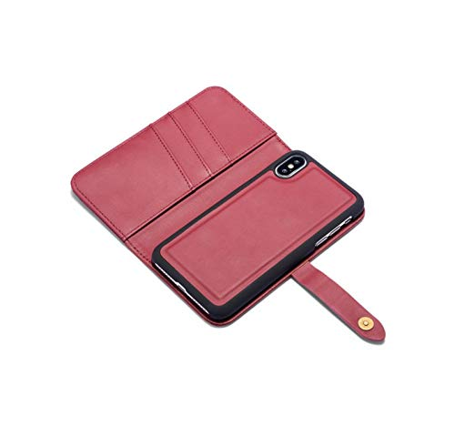 Luxury Lambskin Leather Multi Folded Wallet Cover for iPhone Xs Max Xr X 8 8Plus 7 7 Plus 6S Plus Magnetic Bag Flip Case,5,for iPhone Xr