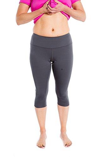 s for Women (L - 3XL) Full Figure Workout Capri Leggings (1X - Plus Size (14-16), Grey) ()