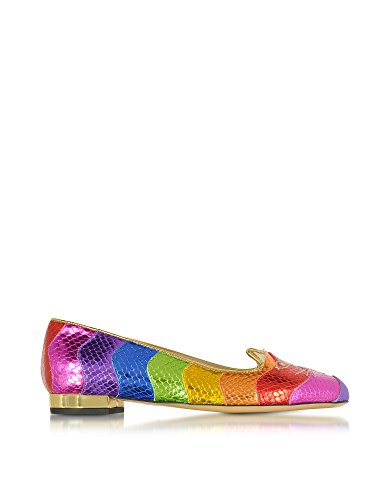 Charlotte Olympia Women's C185650960 Multicolor Leather Flats