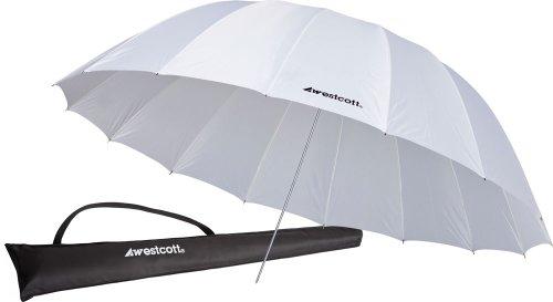 Westcott 4632 7-Feet White Diffusion Parabolic Umbrella