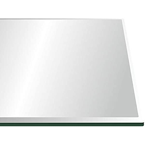 All Safe Glass 40 Round Tempered Glass Table Top 1//2 Thick Bevel Edge Clear