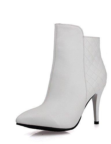 Eu42 White Negro Zapatos Y U White us10 Oficina 5 A 5 Xzz Eu36 us5 Blanco Semicuero Puntiagudos Botas Stiletto De Vestido Uk8 Moda 5 Cn43 Mujer Tacón 5 Trabajo La Cn35 Uk3 TdZwR