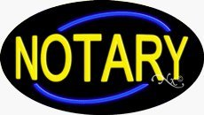 Notary Flashing Neon Sign - 17 x 30 x 2 inches - Made in USA