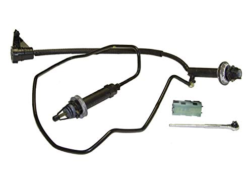 Prefilled Master And Slave Cylinder With Line Works With Ford F250-F550 Superdut Lariat Xl King Ranch Xlt Base 1999-2003 7.3L V8 Diesel Ohv Turbo (Direct//Pre-Bled Clutch System; Turbo)