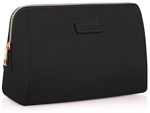 Large Cosmetic Makeup Bag Pouch Clutch Travel Case Organizer Storage Bag for Women s Accessories Toiletry Beauty and Skincare Travel Accessory Water Resistant Bag By SLEEKO