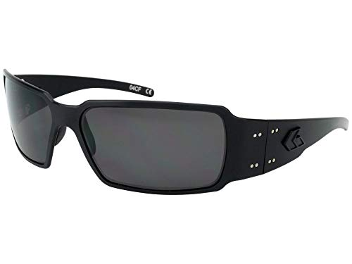 Gatorz Eyewear, Boxster Model, Aluminum Frame Sunglasses -  Blackout Tactical Style/Smoked Polarized Lens
