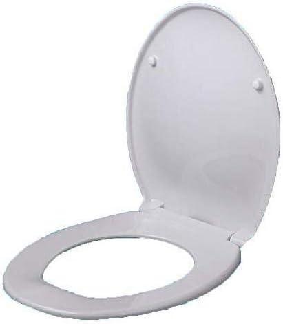 CXMMTGトイレのふた 緩衝パッドクイックリリースで便座O形状の便座ウルトラ浴室や洗面所のための耐性トップマウントトイレカバーホワイト-41-46 * 37センチメートル CXMWY-4W0Y2