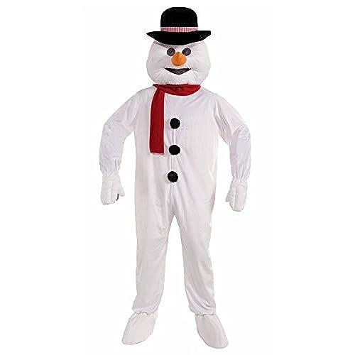 Forum Novelties Menu0027s Plush Snowman Mascot Costume White One Size  sc 1 st  Amazon.com & Christmas Costumes and Mascots: Amazon.com