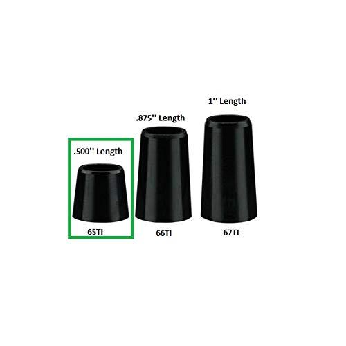 Standard Shaft Length - The Golf Works Black Tapered Iron Ferrules - Re-Shaft - Standard - Length .500