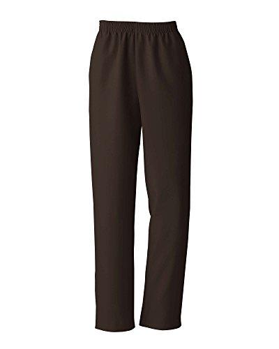 Donnkenny Elastic-Waist Gabardine Pull-On Pants, Brown, ()