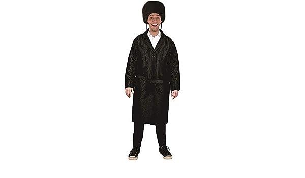 Dress Up America Black Rabbi Coat For Kids Boys Pretendplay Costume