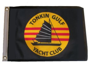 SSP Flags Inc Tonkin Gulf Yacht Club 11in.x15in. Flag with Grommets/Great for Boats or Golf Carts