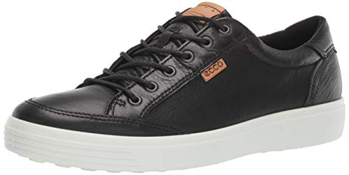 - ECCO Men's Soft 7 Light Sneaker, Black Perforated, 42 M EU (8-8.5 US)