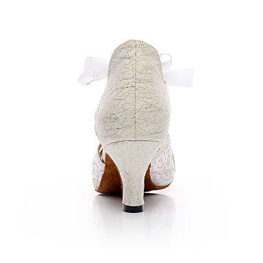 XIAMUO Anpassbare Damen Tanz Schuhe Kunstleder Kunstleder Latein Sandalen Stiletto Heel Praxis/Anfänger/Professional/IndoorBlack/, Schwarz, US5/EU 35/UK3/CN34