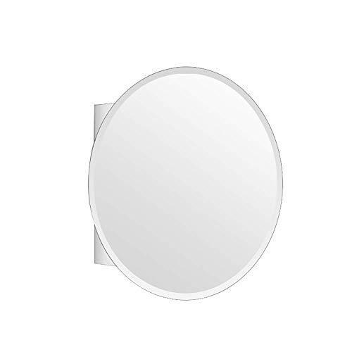 HDGZ 304 Stainless Steel Bathroom Waterproof Mirror Cabinet Single Door Storage -