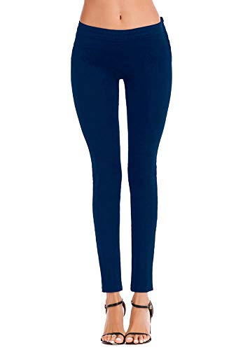In Denim Wenchuang Marino Elasticizzati Pantaloni Skinny Blu Donna Jeans Aderenti YYqXZ6