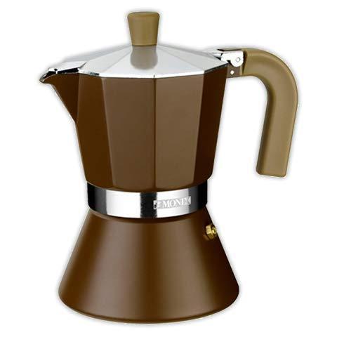 Cafetera italiana MONIX Cream 9 tazas | MONIX Induccion Vitro Gas Electrico