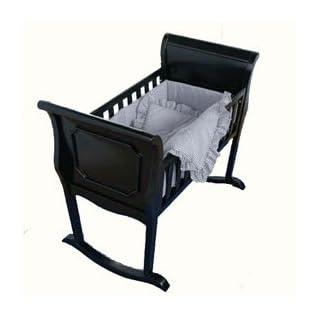 "BabyDoll Light Blue Gingham Cradle Bedding, 18"" x 36"""