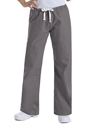 2xl Xxl Scrubs - Landau Urbane Essentials 9502 Women's Relaxed Drawstring Scrub Pant Steel Grey 2XL