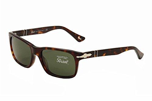 Persol PO3048S Sunglasses 24/31 Havana/Crystal Green Lens ()