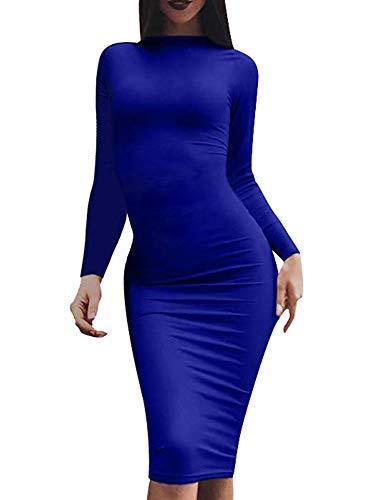 46c0ce956a5 LCNBA Women s Bodycon Long Sleeve Dress Sexy Casual Midi Pencil Dresses