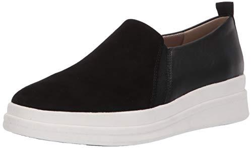 Naturalizer Women's YOLA Sneaker, Black Leather, 9 M US