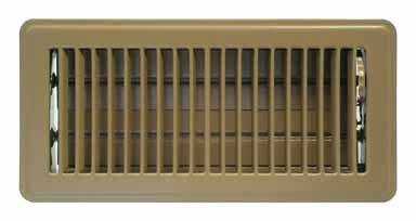 American Metal 413B4X10R 4-Inch X 10-Inch Brown Floor Diffus