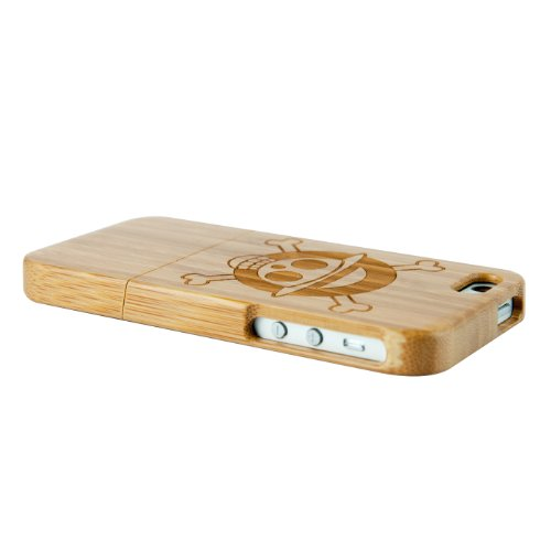 SunSmart (TM) Natural Handmade hard wood Bamboo Case Cover for iphone 5 with free screen protector(One Piece)