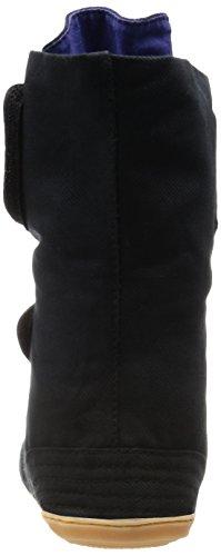 MARUGO Magic Safety Japanische Tabi Sicherheits-Schuhe Schwarz/Navy mit Plastikschutz (Klettverschluss)