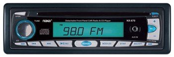 Naxa NCA-670 Detachable Stereo AM/FM Car Radio with Compact Disc Player and Aux-In Jack
