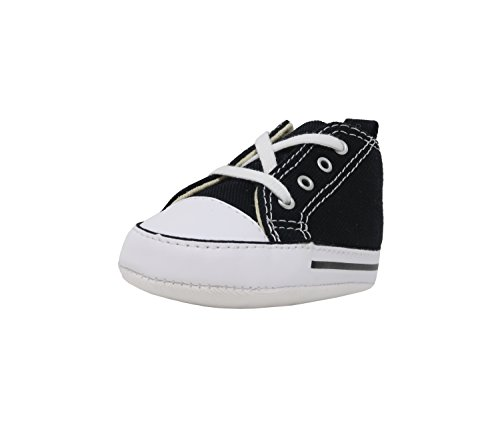 Converse Baby First Star High Top Sneaker black 3 M US Infant ()