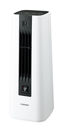 シャープセラミックファンヒータープラズマクラスター搭載人感センサー付ホワイトHX-ES1-W