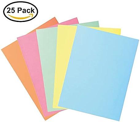 Surtido Cartulinas Color Pastel 5 Colores Diferentes 50x65 cm 25 Hoja: Amazon.es: Oficina y papelería