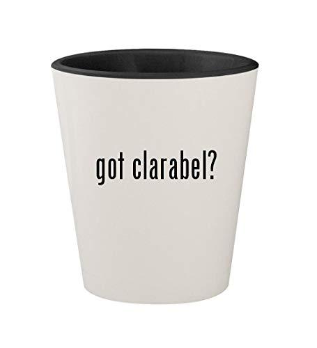 got clarabel? - Ceramic White Outer & Black Inner 1.5oz Shot Glass]()