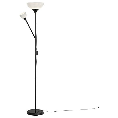 Two Bulb 1 (Ikea Not Floor Lamp Reading LED Light (Bulbs Included) Adjustable Spotlight Arm (With bulbs) (Lamp + 2 LED Bulbs))