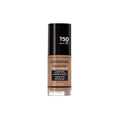 Covergirl Trublend Matte Made Liquid Foundation, T50 Natural Tan, 1.014 Ounce