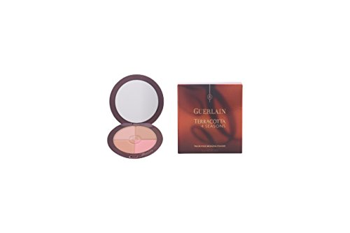 Guerlain Terracotta 4 Seasons Tailor Made Bronzing Powder SPF 10 with Pure Gold for Women, 00 Nude, 0.35 Ounce