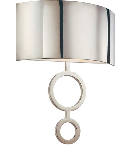 Sonneman 1881.35, Dianelli Wall Sconce Lighting, 2 Light, 40 Total Watts, Polished Nickel ()