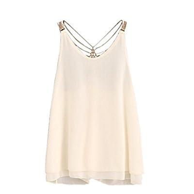 Woaills Women's Halter Tank Tops Blouse, Backless Crop Tops Vest Sleeveless T-Shirt