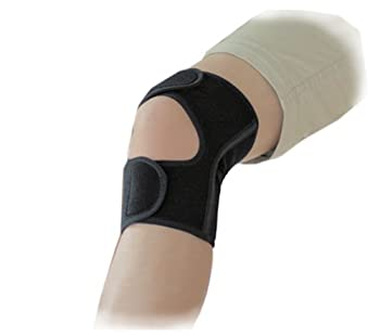 Phiten Day Fit Adjustable Knee Wrap with Aqua Titanium Black Lge