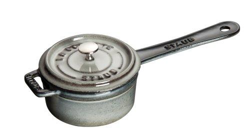 Staub .25 Quart Sauce Pan, Graphite Gray
