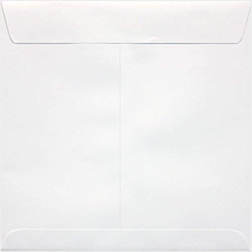 8 x 8 Square Envelopes w/Peel & Press - 70lb. Bright White (50 Qty.) | Perfect for announcements, special events, weddings and greeting cards | Printable | 70lb Text Paper | 10969-50 (70 Text Lb Bright White)