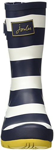 Joules Womens Molly Welly Regenlaars Navy Wide Stripe