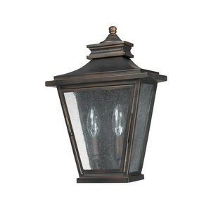 Capital Lighting 9460OB Astor 2-Light Exterior Wall Lantern, Old Bronze Finish with Antique (Astor Four Light)