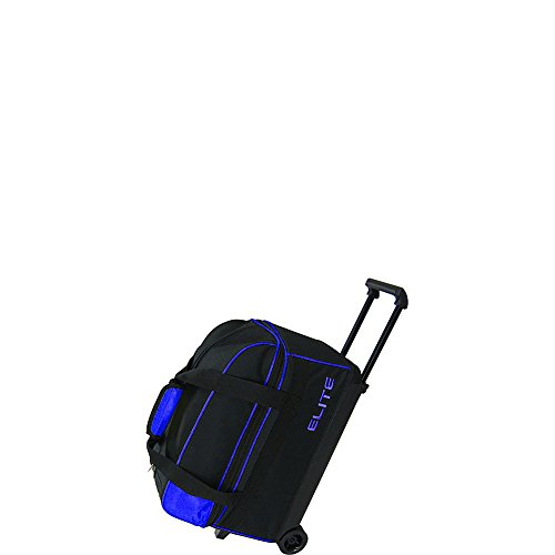 Elite Bowling Basic Double Roller Bowling Bag (Black/Blue)