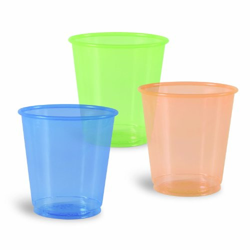 Solo 3-Ounce Ultra Colors Plastic Cups, 100-Count