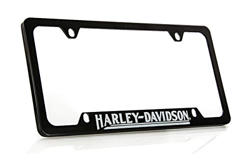 Harley Davidson Car Truck SUV License Plate Frame Black Metal - - Plate Davidson Harley License Metal
