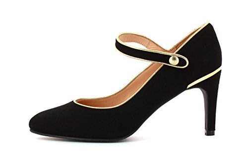 Eclat Suede Oxido Tacón Black Zapato nAB70Hv0q
